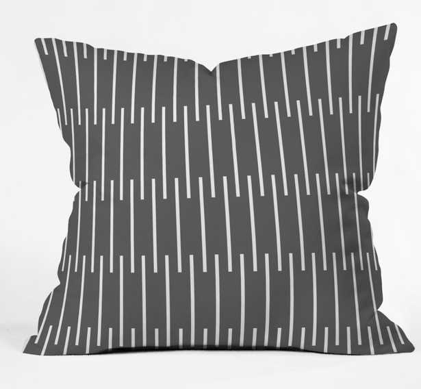 """meridian  grey  Throw Pillow - insert included 16""""x16"""" - Wander Print Co."""
