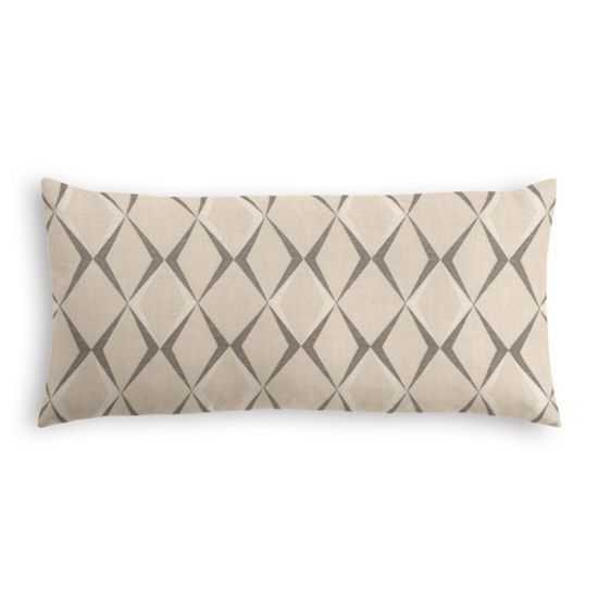 Lumbar Pillow  A Cut Above - Gunmetal - Loom Decor