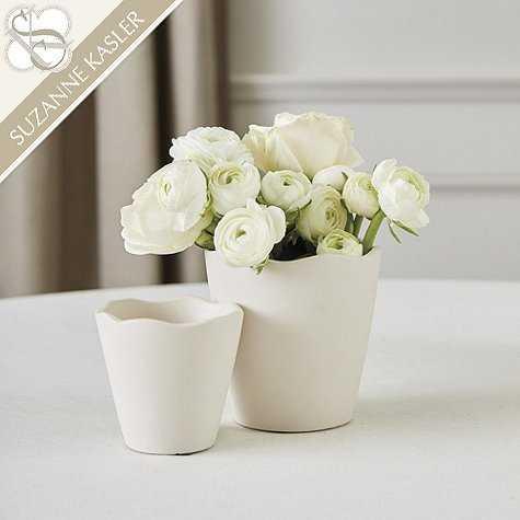 Suzanne Kasler Lisi Scalloped Vases -  small - Ballard Designs