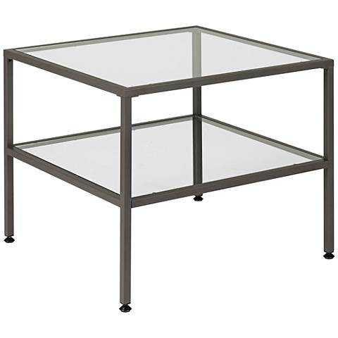 Studio Designs Home Pewter Camber End Table clear - Lamps Plus