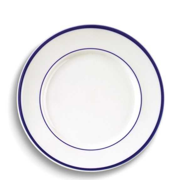 Brasserie Blue-Banded Porcelain Dinner Plates - Williams Sonoma Home
