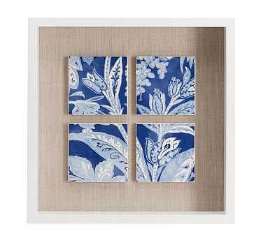 Open-Front Shadow Box Wall Art, Indigo Tiles - Pottery Barn
