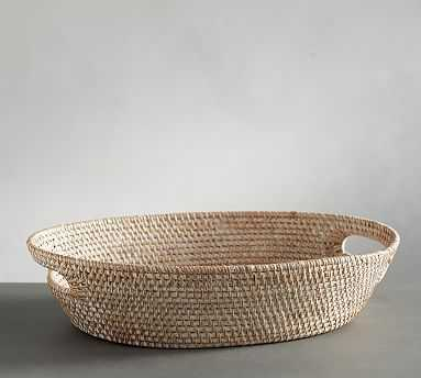 Tava Oval Bread Basket, Light Natural - Pottery Barn