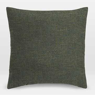 "Upholstery Fabric Pillow Cover, 18""x18"" Welt Seam, Heathered Tweed, Leek - West Elm"