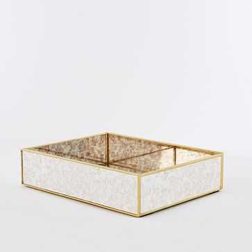 Foxed Mirror Large Tray - West Elm