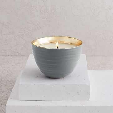 Naturalist Candle, Woods, Ceramic Bowl - West Elm