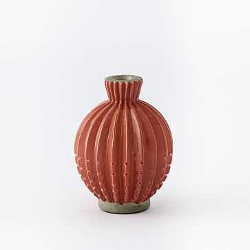 "Rustic Pure Vase, Bud (5.5""), Orange - West Elm"