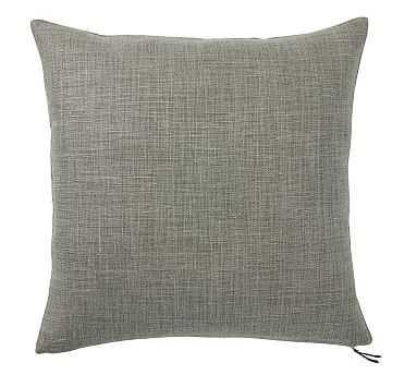 "Libeco Linen Pillow Cover, 24"", Sage Grass - Pottery Barn"