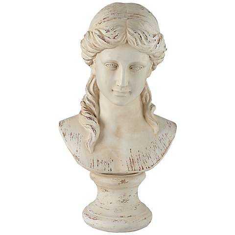 """Classic Greek 17 1/2"""" High Antique White Bust Sculpture - Lamps Plus"""