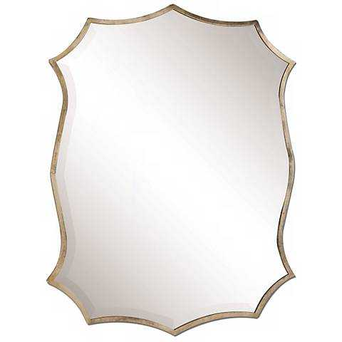 """Uttermost Migiana 30"""" High Oxidized Nickel Wall Mirror - Lamps Plus"""