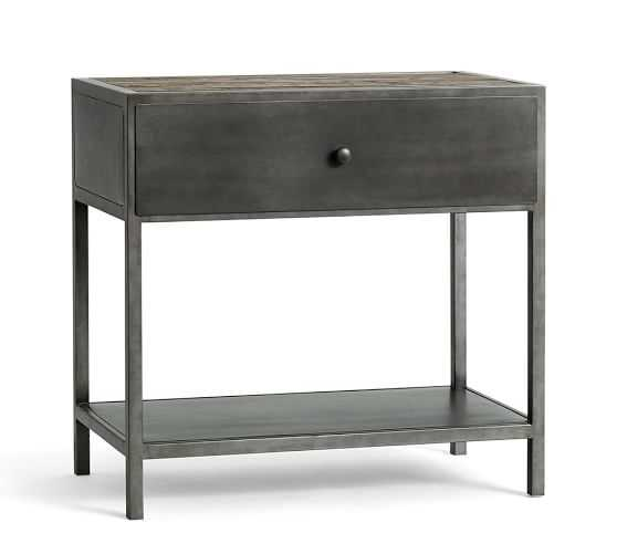 BIG DADDY'S ANTIQUES METAL BEDSIDE TABLE - Pottery Barn