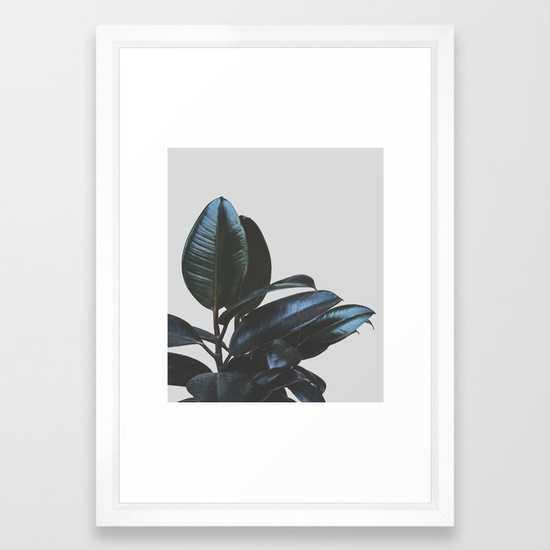 """Botanical Art V4 - 15"""" x 21"""" - Vector White Frame - Society6"""