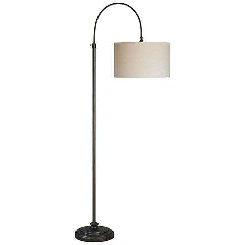 Forty West Reagan Oil Rubbed Bronze Adjustable Arc Floor Lamp - Lamps Plus