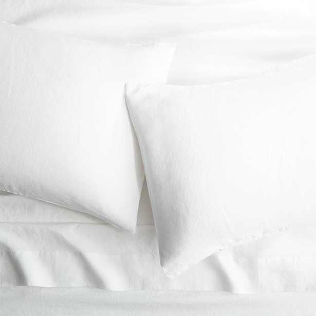 Linen white king sheet set - CB2