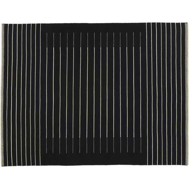 black with white stripe rug 9'x12' - CB2