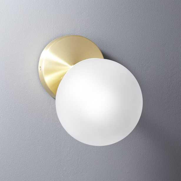 vega bath 1 bulb brass wall sconce - CB2