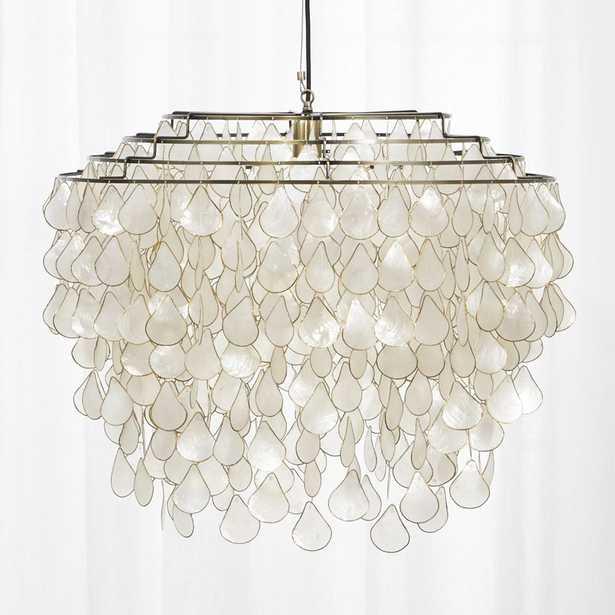 Teardrops capiz chandelier - CB2