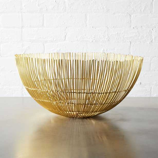 soleil large brass wire bowl - CB2