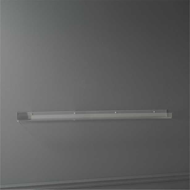 "Acrylic wall shelf 48"" - CB2"