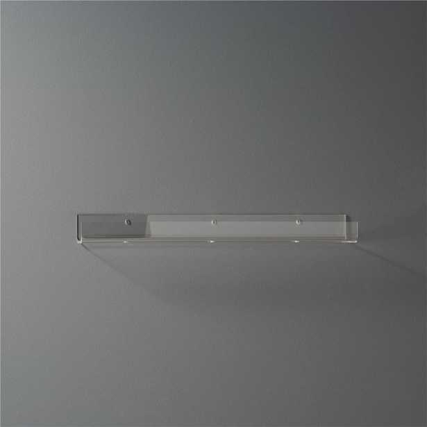 "acrylic wall shelf 24"" - CB2"