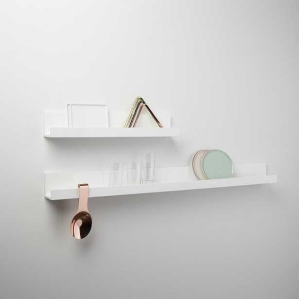 """piano white wall shelf 48"""""" - CB2"