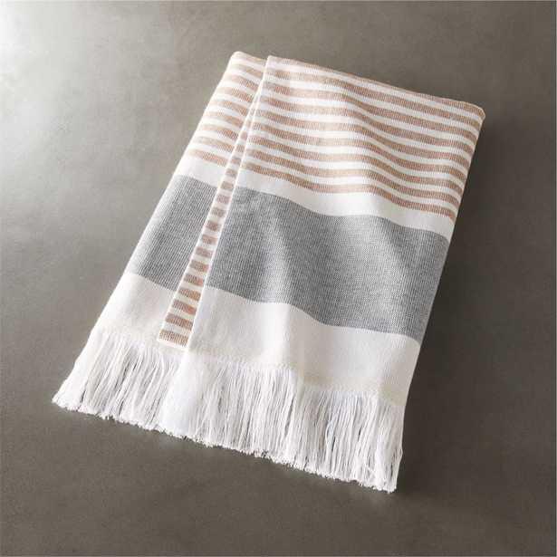 karla copper hand towel - CB2