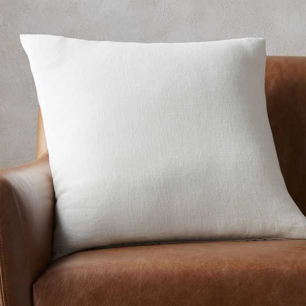 """20"""" linon white pillow with feather-down insert - CB2"""