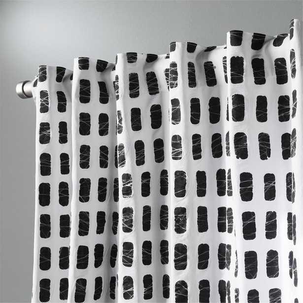 "korben plaid curtain panel 48"" x 96"" - CB2"