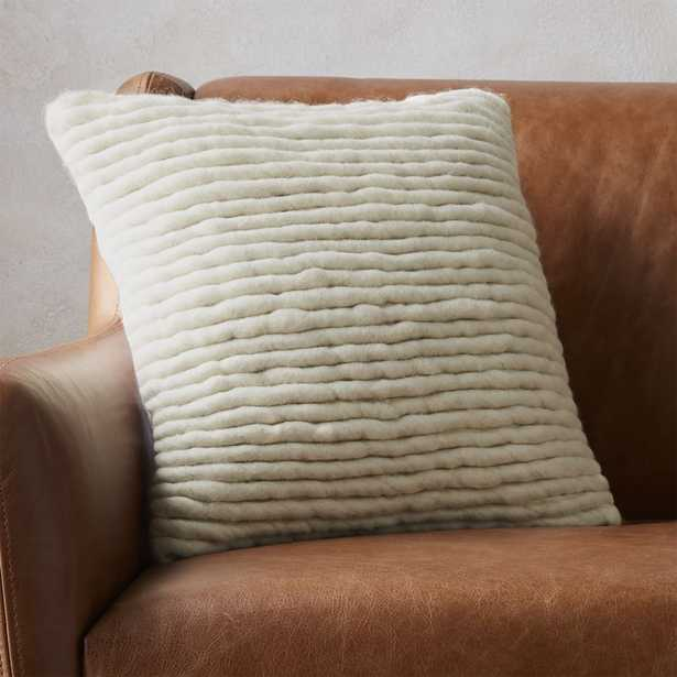 """""""16"""""""" wool wrap pillow with feather-down insert"""" - CB2"""