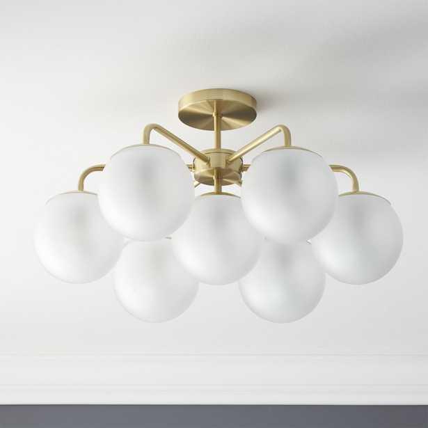 vega brushed brass flush mount lamp - CB2