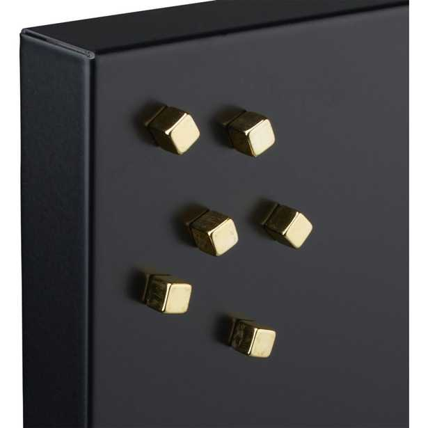 set of 6 mighty gold magnets - CB2
