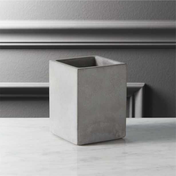 cement pencil cup - CB2