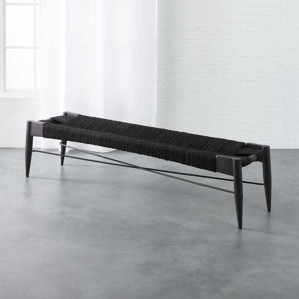 wrap large black bench - CB2