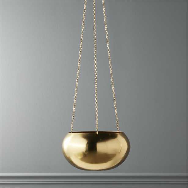 raj gold hanging planter - CB2