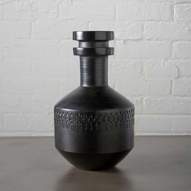 "smoke stack black vase - 11.25""H - CB2"
