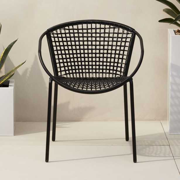 sophia black dining chair - CB2