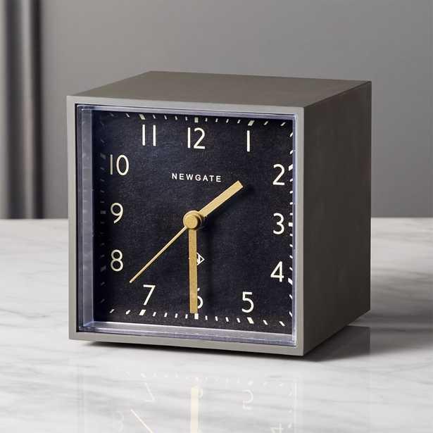 Newgate ® grey and black cubic alarm table clock - CB2