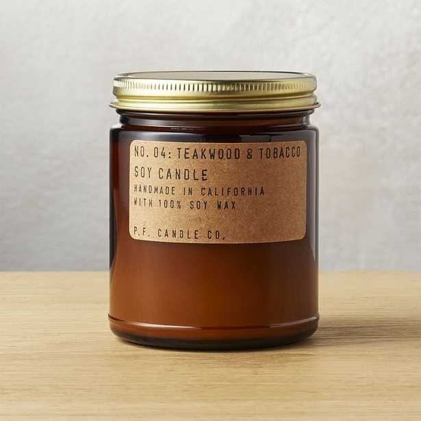 teakwood and tobacco soy candle - CB2