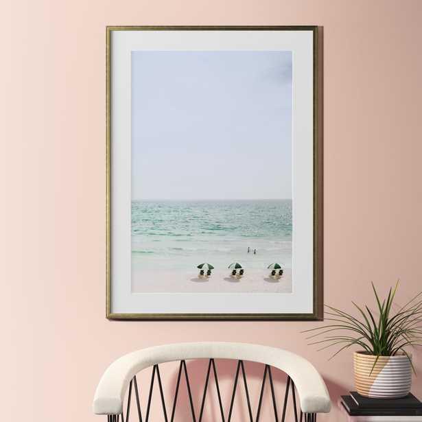 """beach life with gold frame 31.5""""x43.5"""""" - CB2"