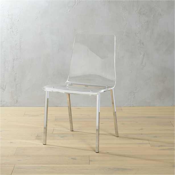 vapor acrylic chair - CB2