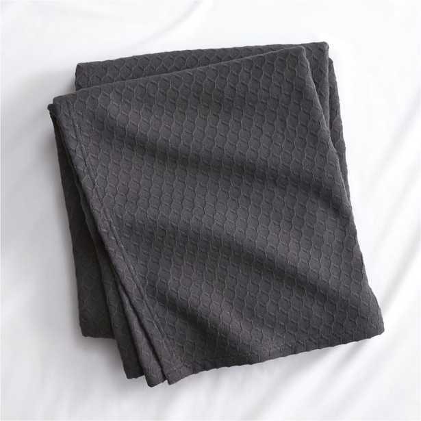 hive graphite king blanket - CB2