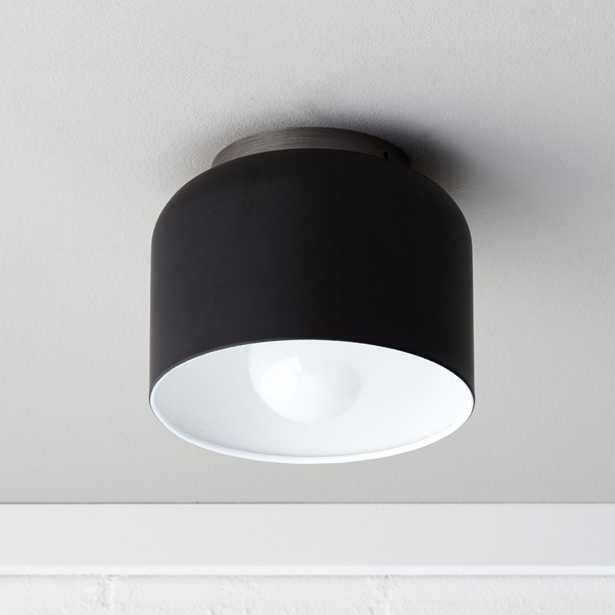 bell black flush mount lamp - CB2
