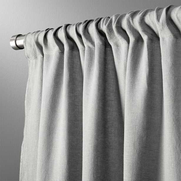 """graphite linen curtain panel 48""""x84"""""" - CB2"