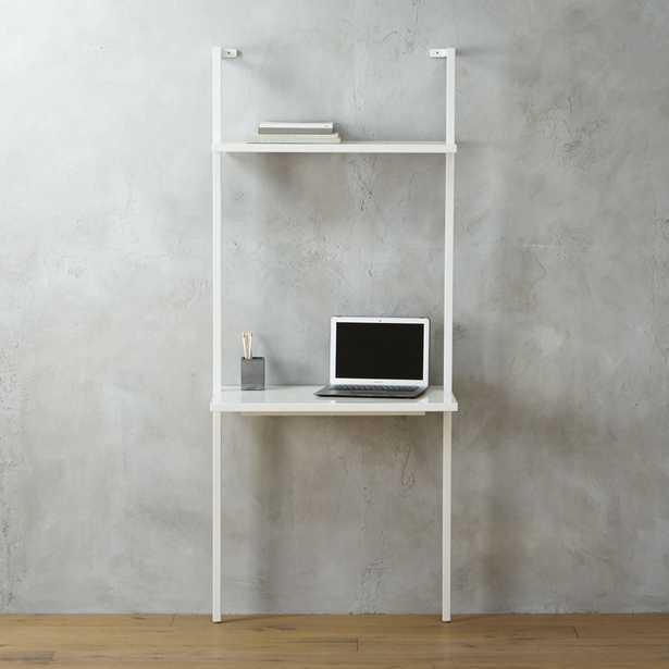 """Stairway white 72.5"""" desk - CB2"""