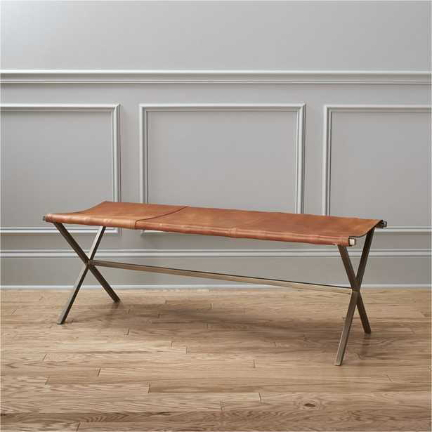 leather director's bench - CB2
