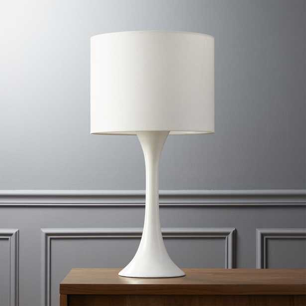 ada II white table lamp - CB2