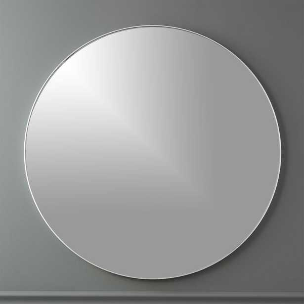 """INFINITY 36"""" ROUND WALL MIRROR, Silver - CB2"""