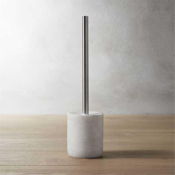 marble toilet brush - CB2