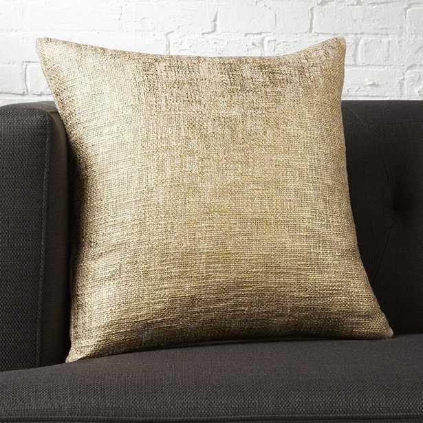 "18"" glitterati gold pillow with down-alternative pillow - CB2"