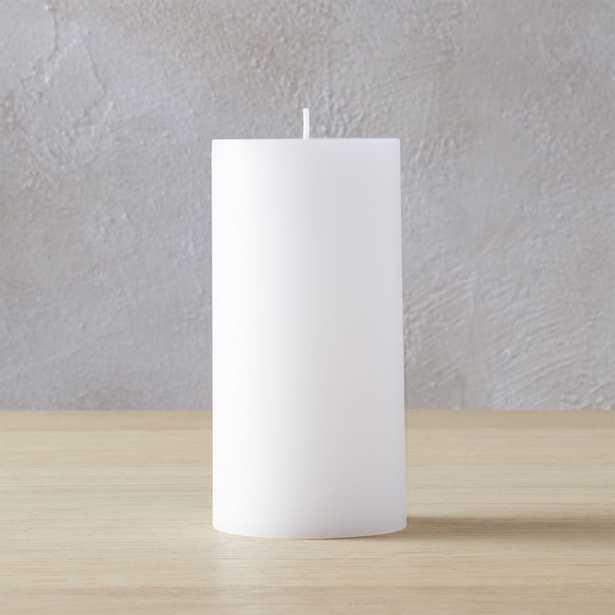 "3""x6"" pillar candle - CB2"
